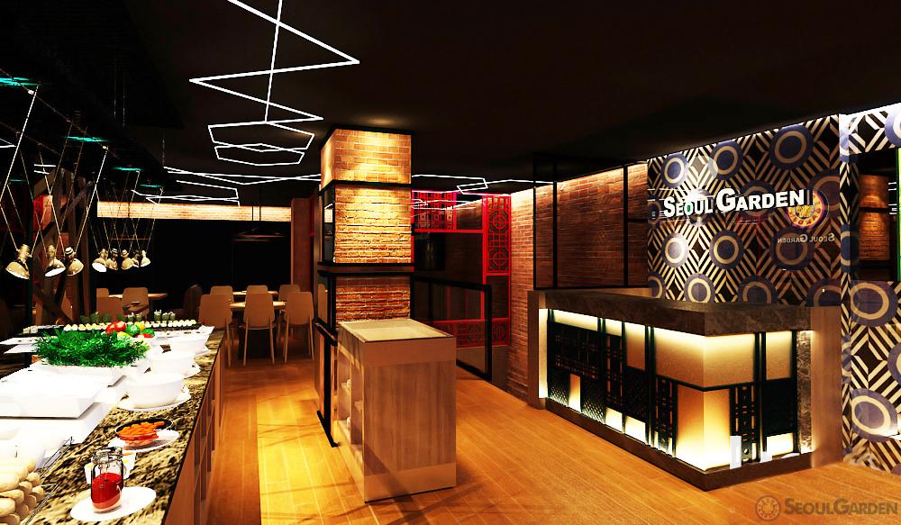 Khu không gian chung của nhà hàng khá ấm cúng, có nhiều khu chung và riêng tư cho khách đoàn, gia đình và cặp đôi